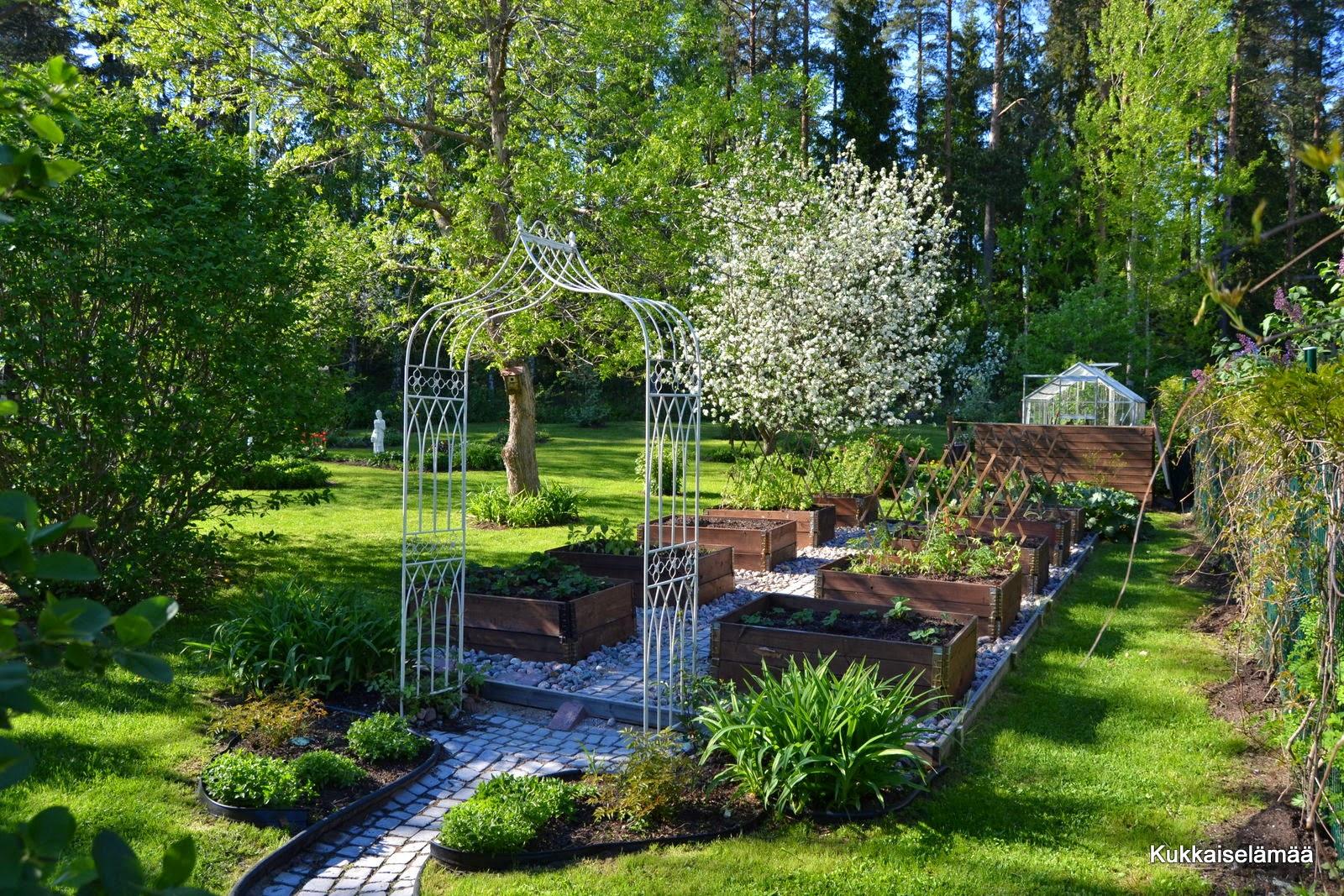 Helteinen lauantai puutarhassa – Saturday in a garden