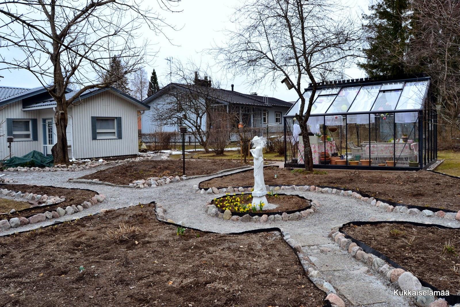 Kevätpiha ja arvonnan voittaja – Vernal garden