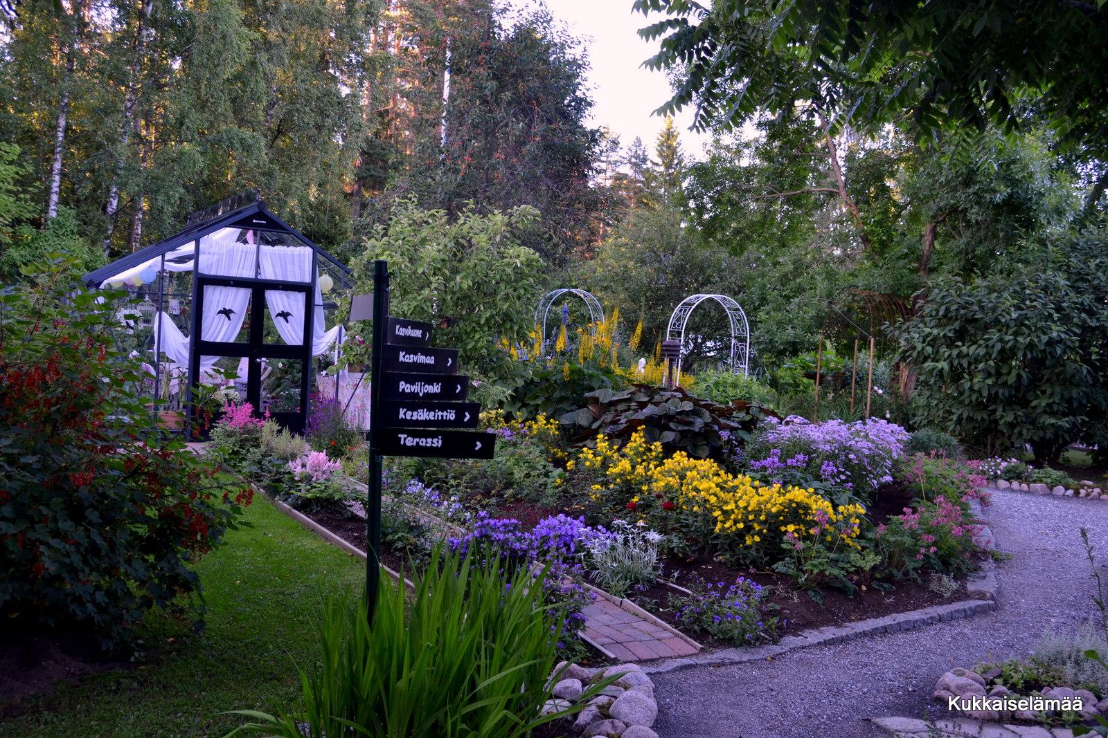 Muutoksia vuosien varrella – Changes in our garden